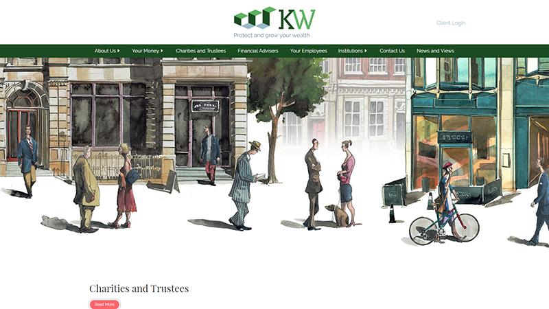 KW Wealth website designed by EQ Creative